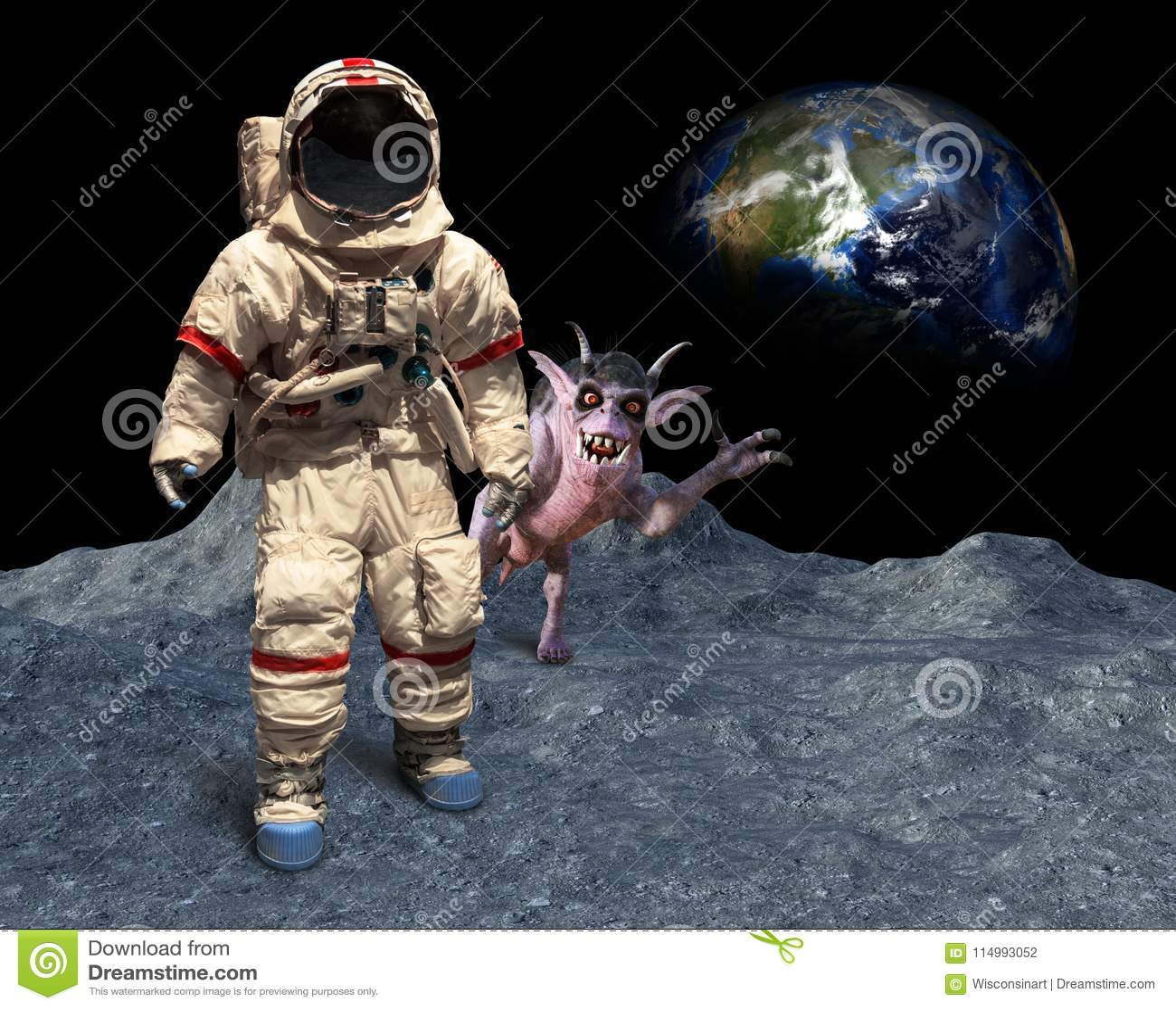 Alien Astronaut Space Moon Stock Photos - Download 112 Images