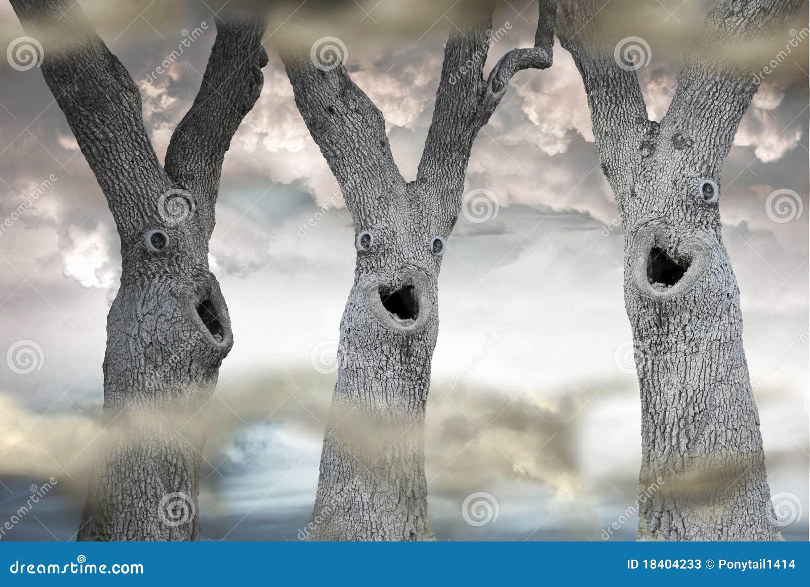 Funny Spooky Trees