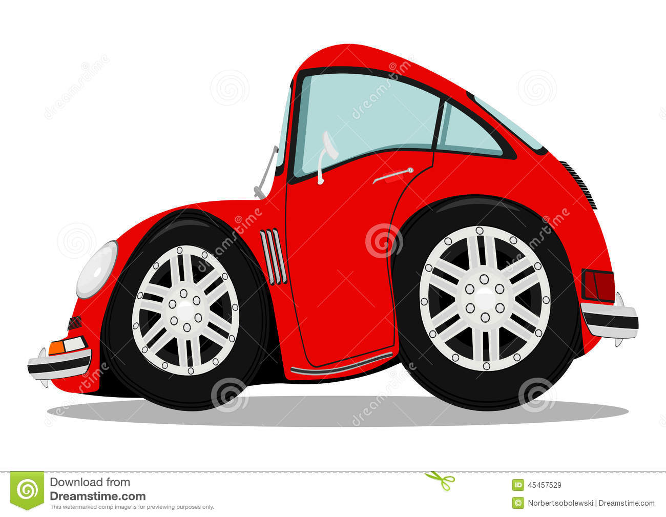 Funny sports car