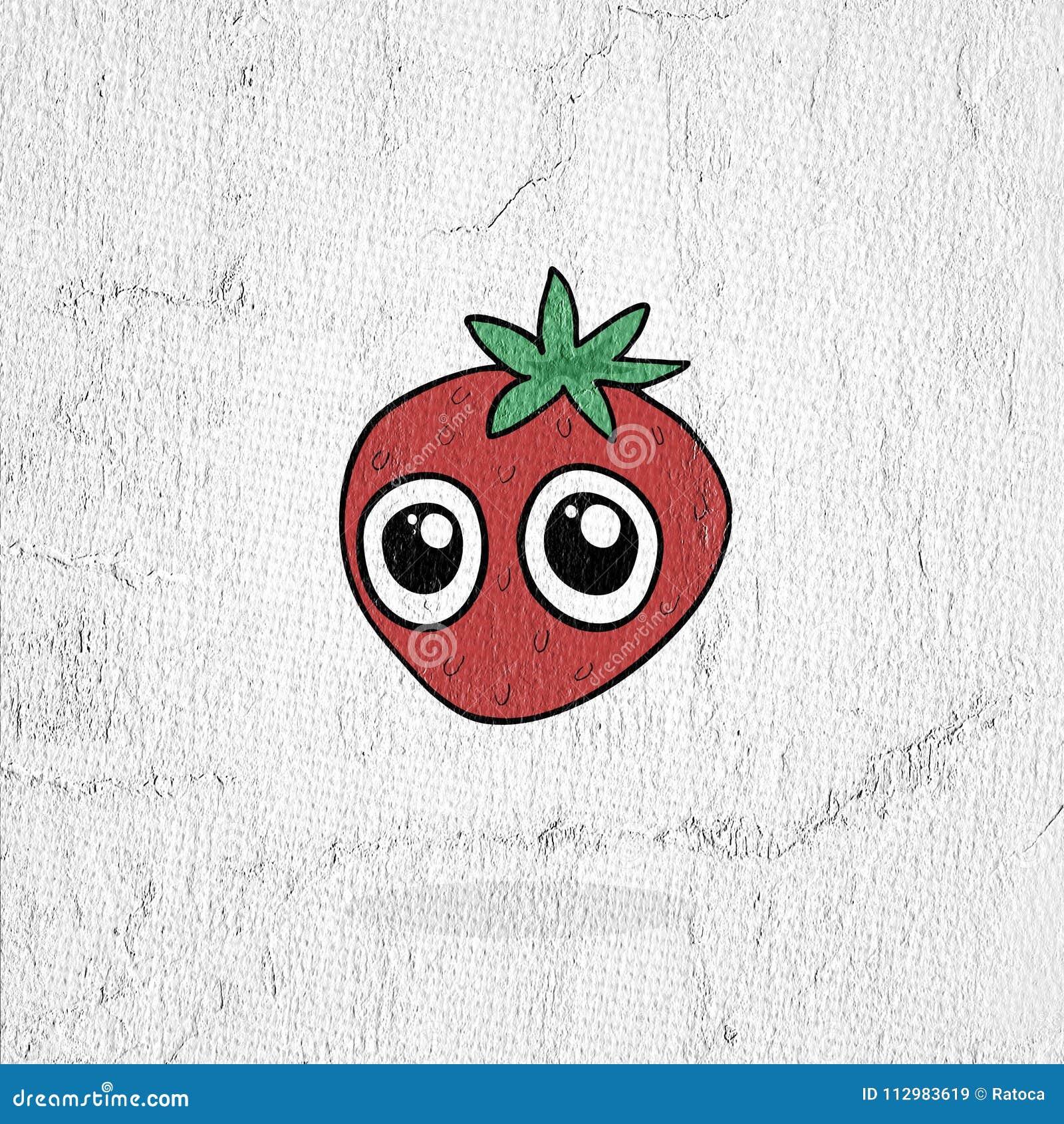 funny strawberry illustration