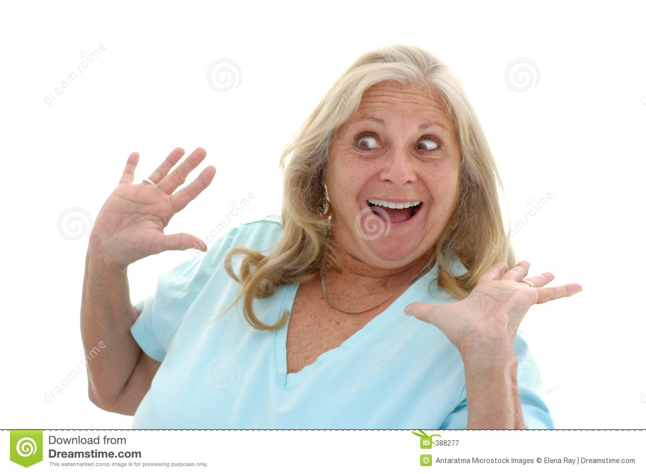 Funny surprised woman