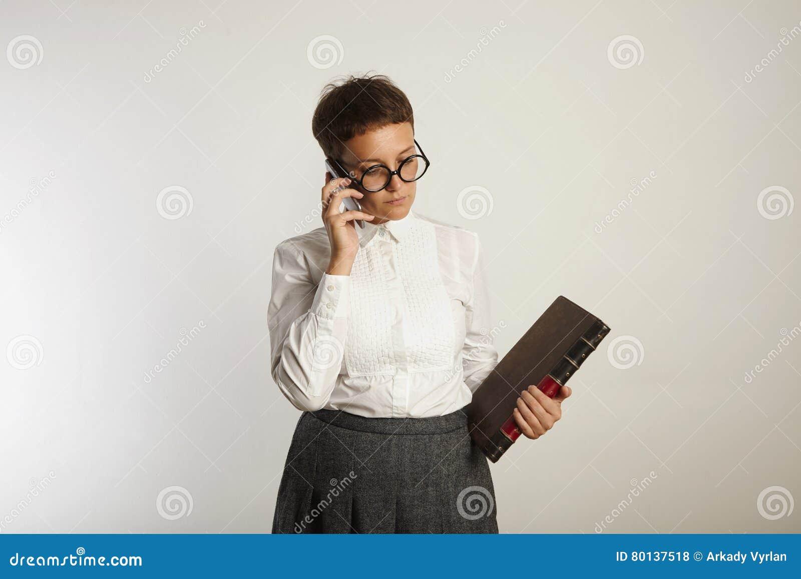 Funny Teacher Speaking On Mobile Phone Stock Photo - Image ...