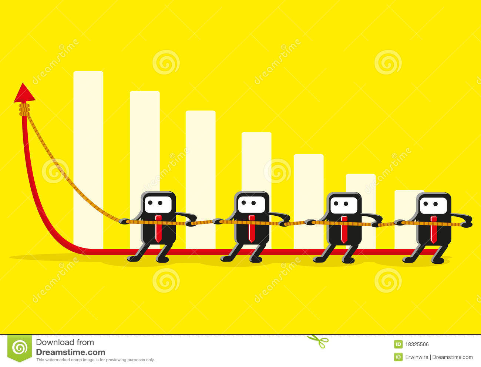Funny Teamwork Stock Vector Illustration Of Profit Forecast 18325506