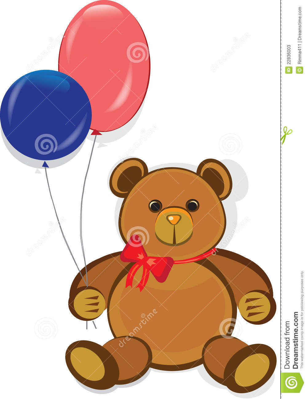 Funny Teddy Bear,happy Birthday Card Stock Photos - Image: 22836003