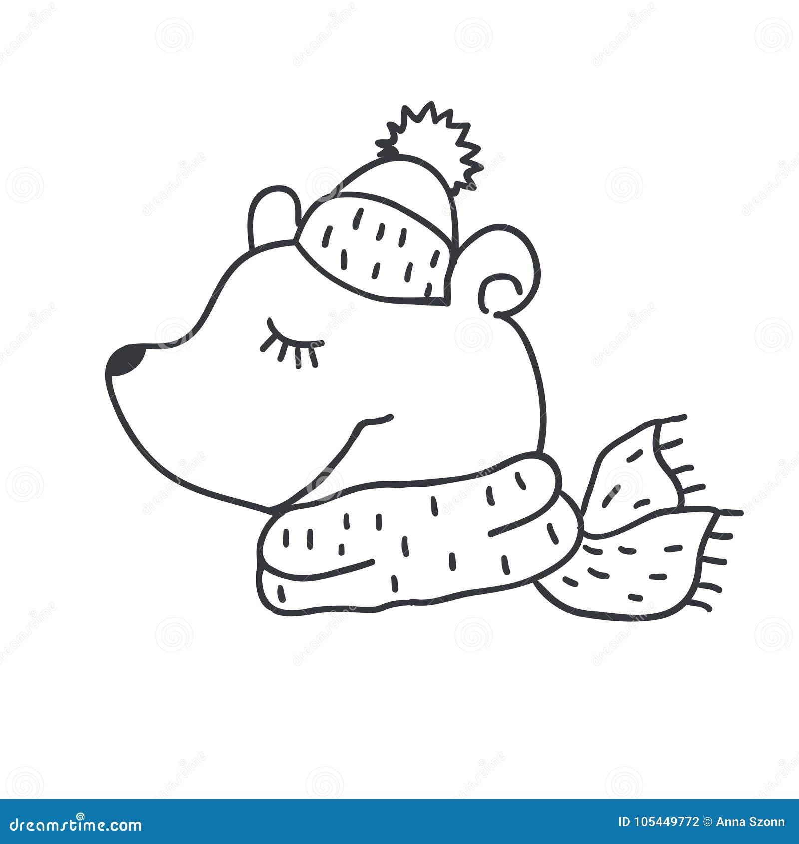 4d41679b Funny Teddy Bear. Nursery Art. Minimalist Scandinavian Style ...