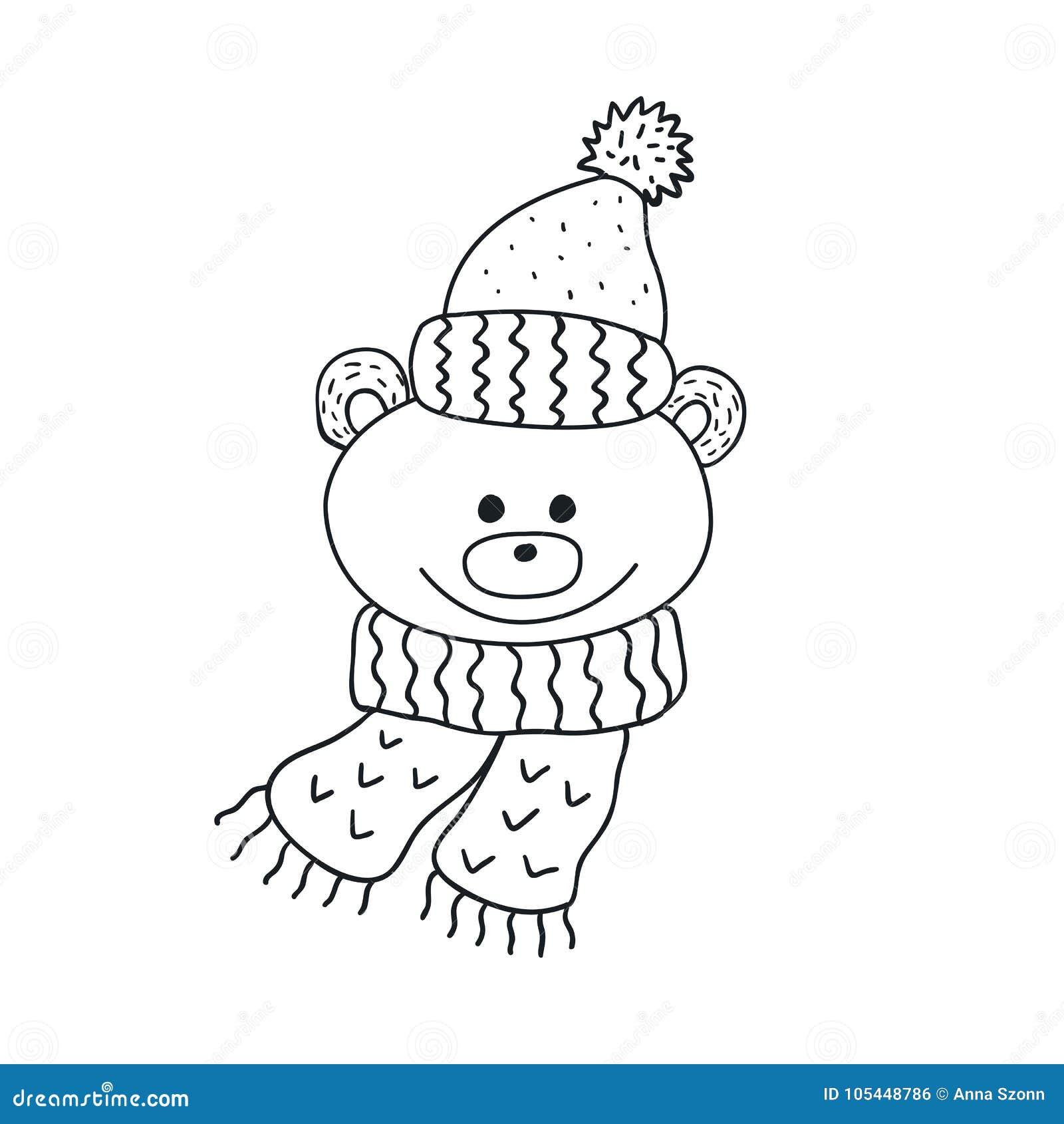 0c56f5d3 Funny Teddy Bear. Nursery Art. Minimalist Scandinavian Style. Stock ...