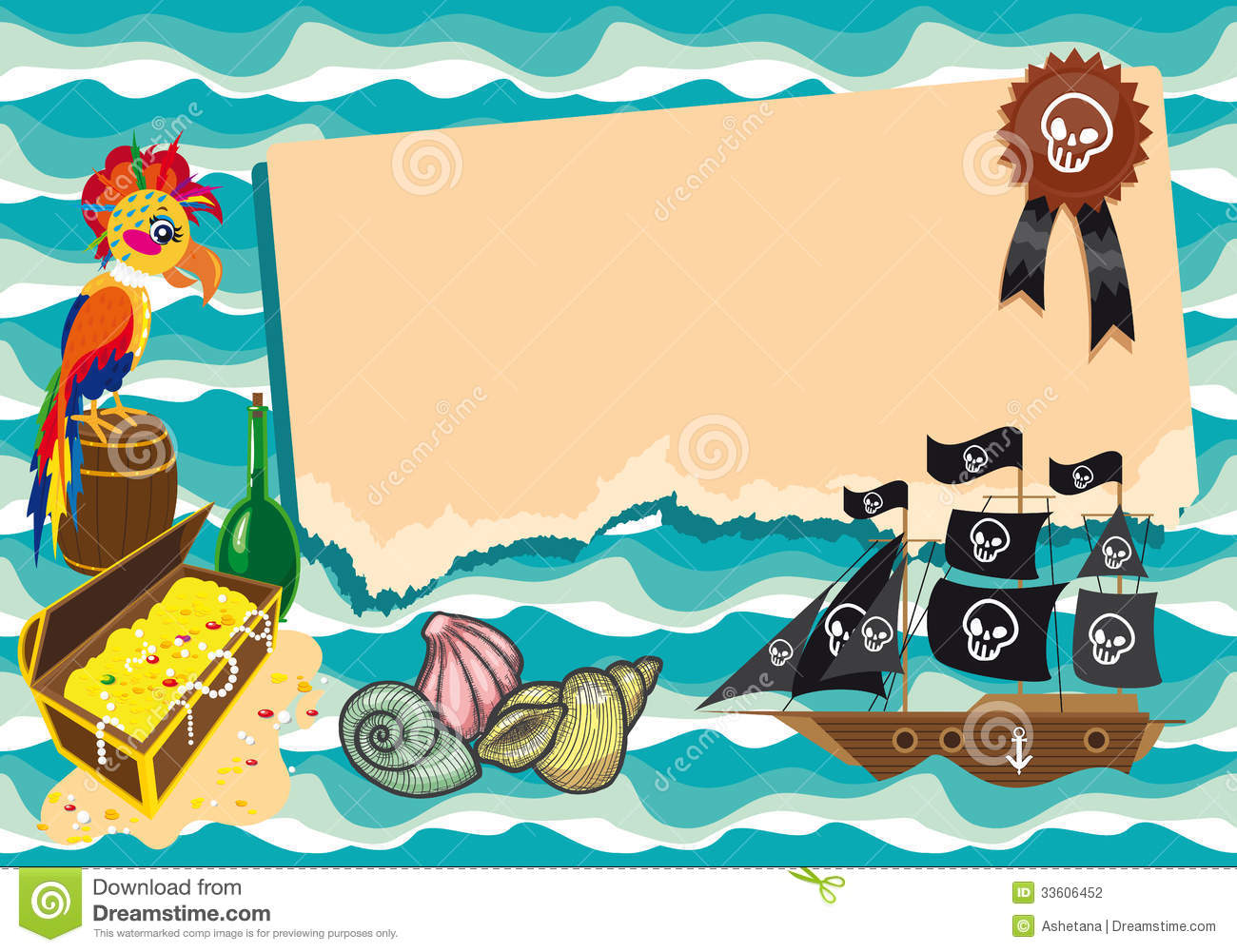Funny template on pirate theme stock illustration illustration of download comp toneelgroepblik Choice Image