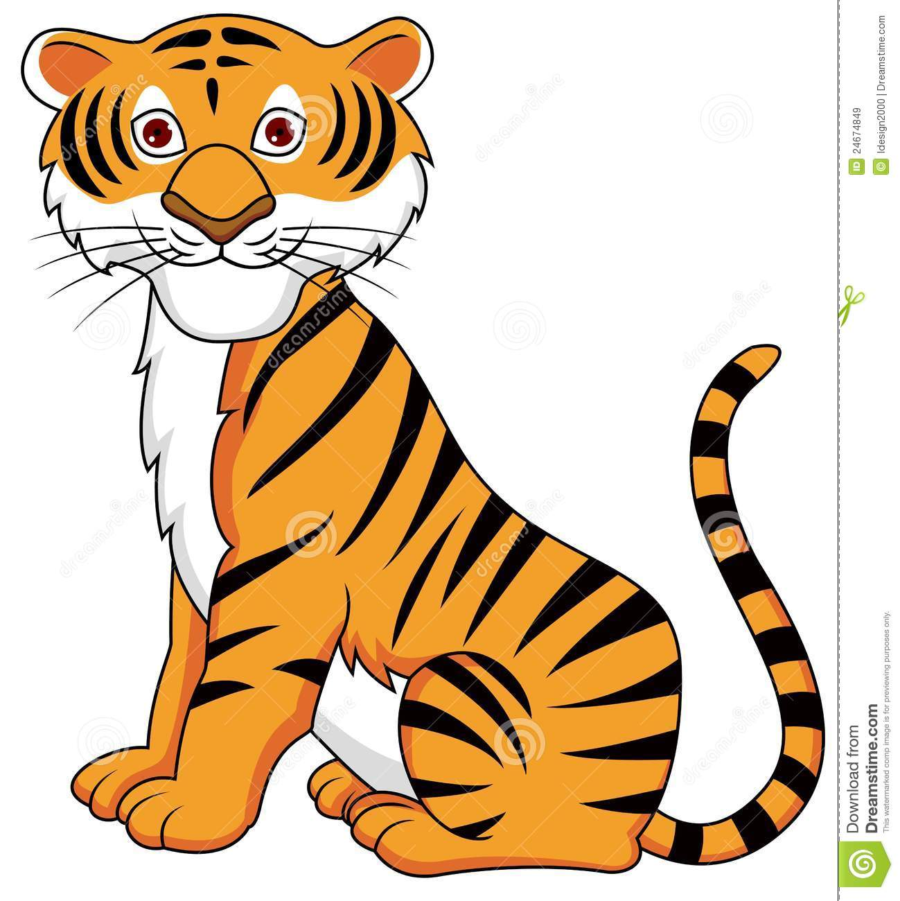 Stock Photo: Funny Tiger cartoon. Image:
