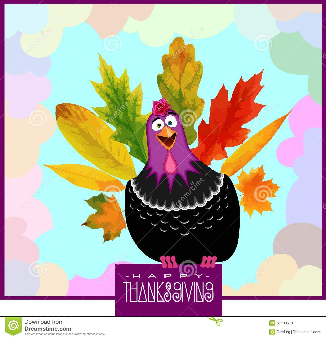 funny turkey thanksgiving day stock photo