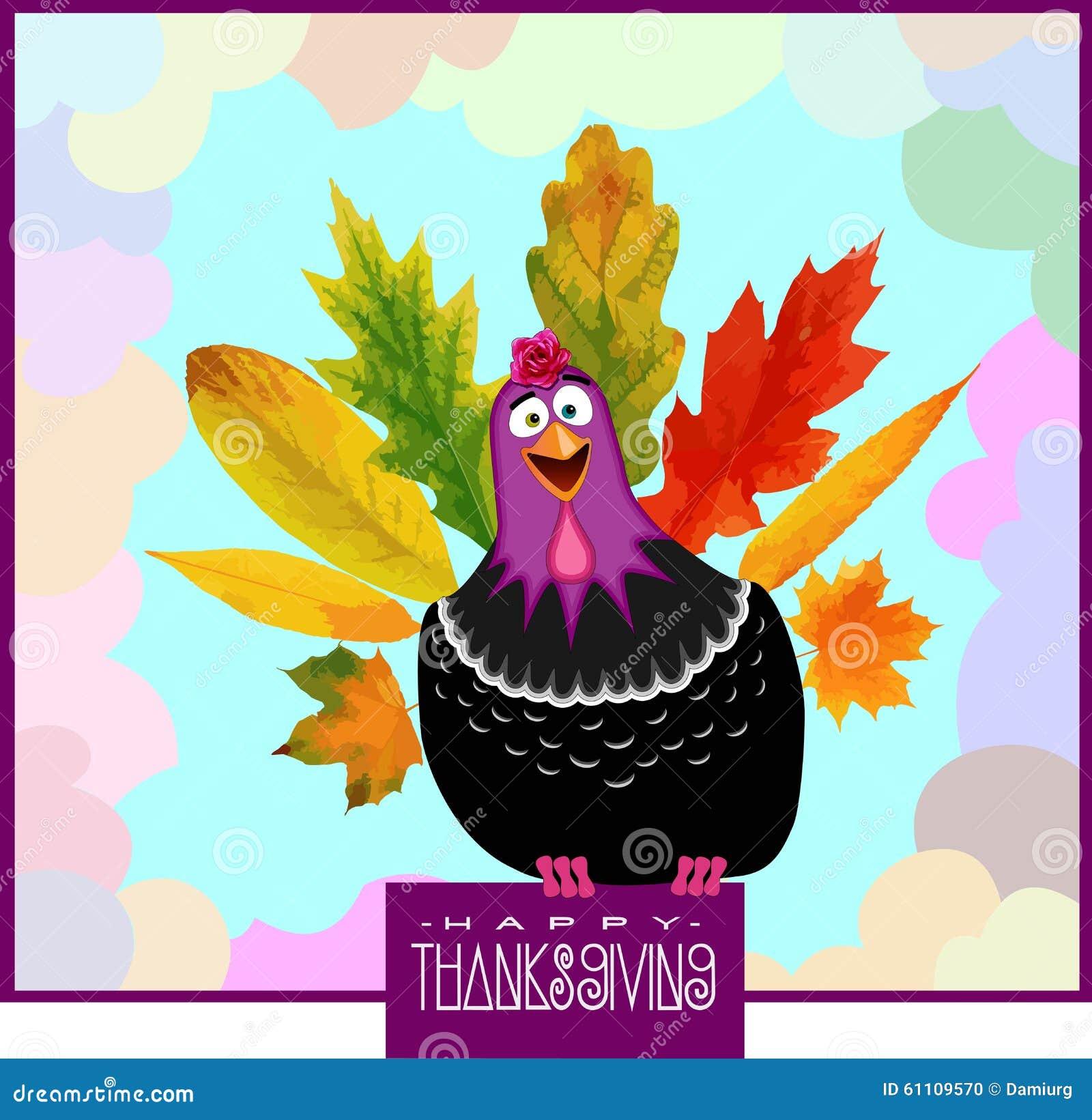 funny turkey thanksgiving day stock photo
