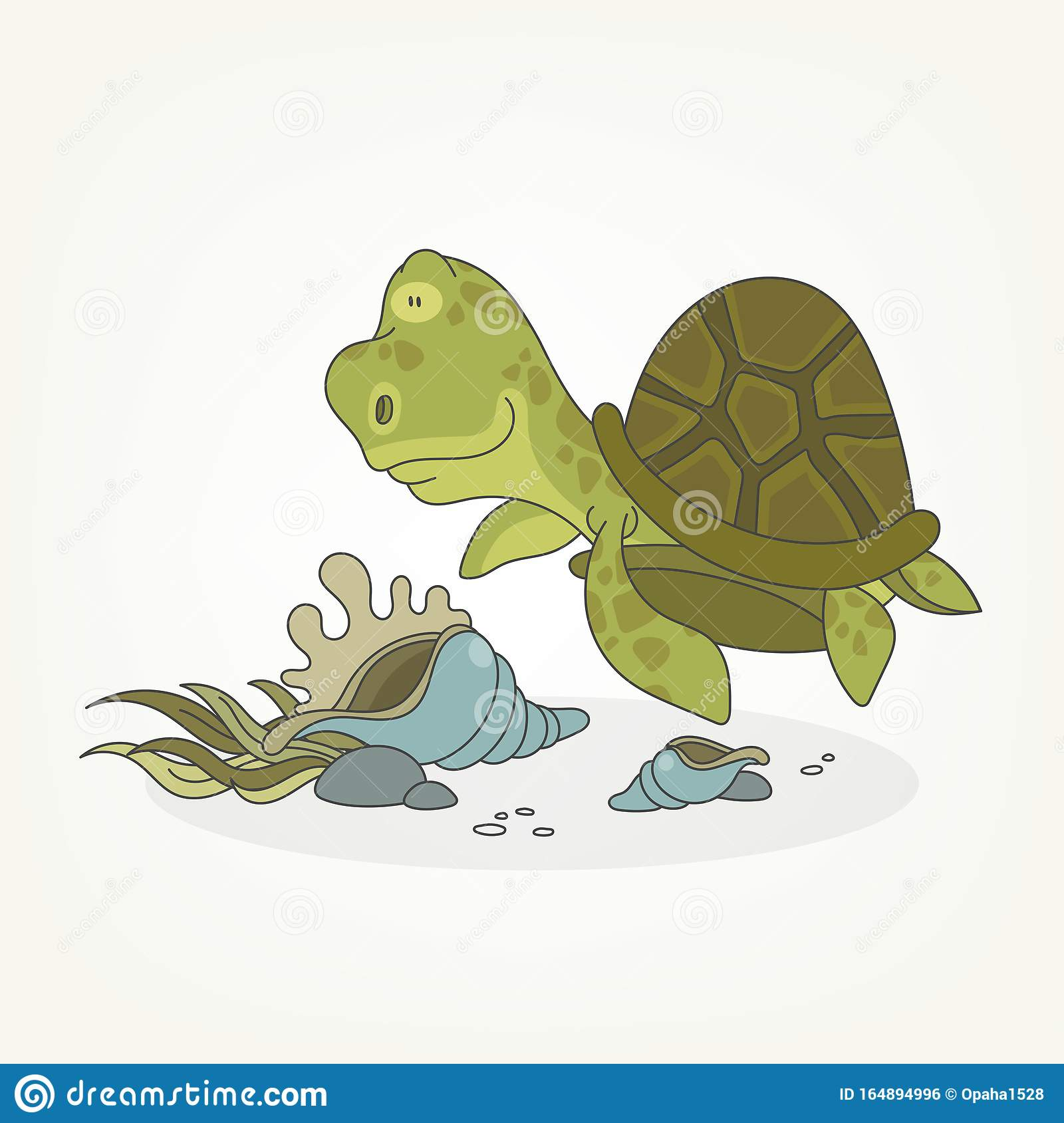 Funny Turtle And Shells Stock Vector Illustration Of Comical