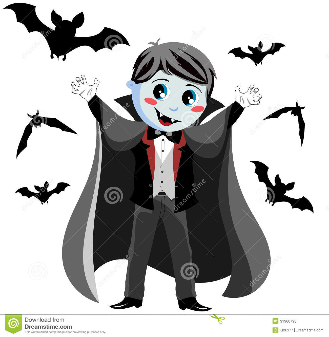 Funny Vampire Kid stock vector. Image of october, culture ...