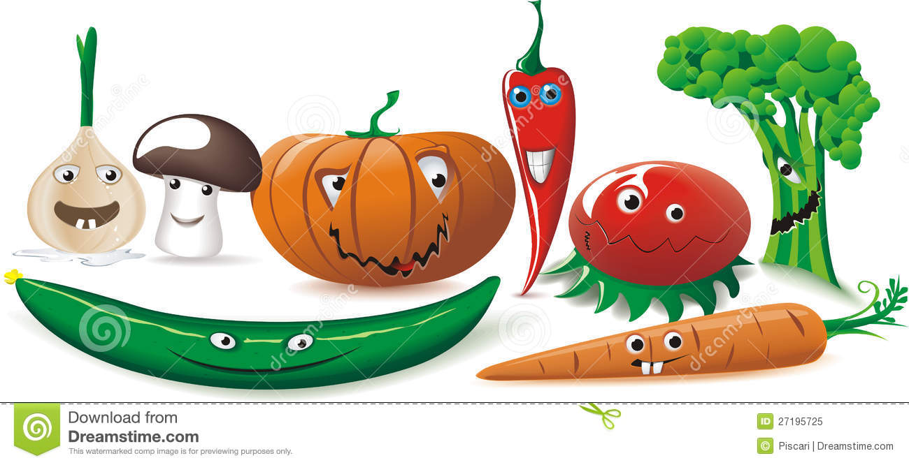 Funny Vegetables Royalty Free Stock Photo - Image: 27195725