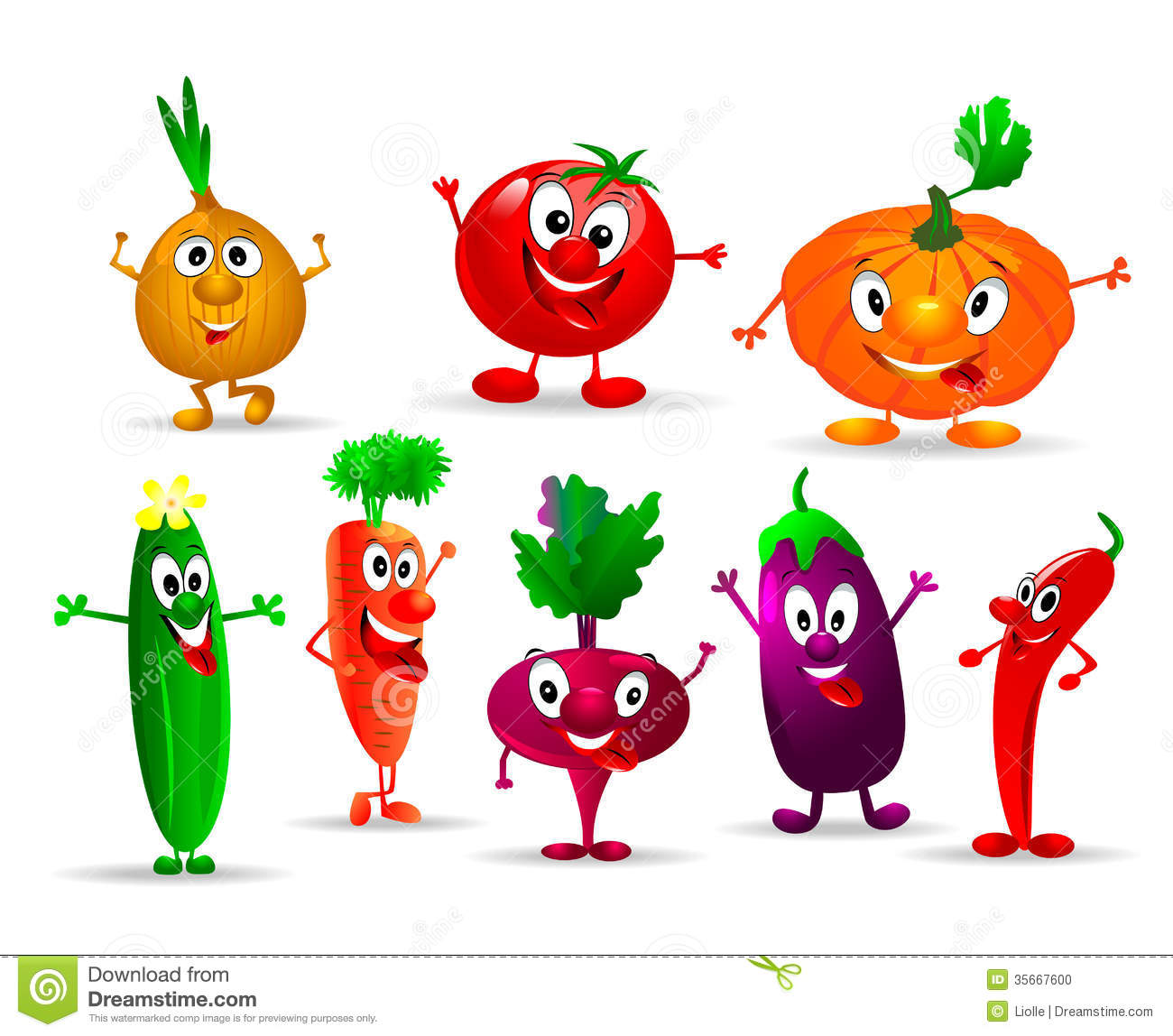 Funny Vegetables Stock Photo - Image: 35667600