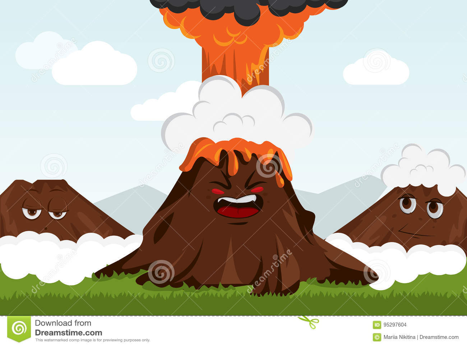 Funny volcano