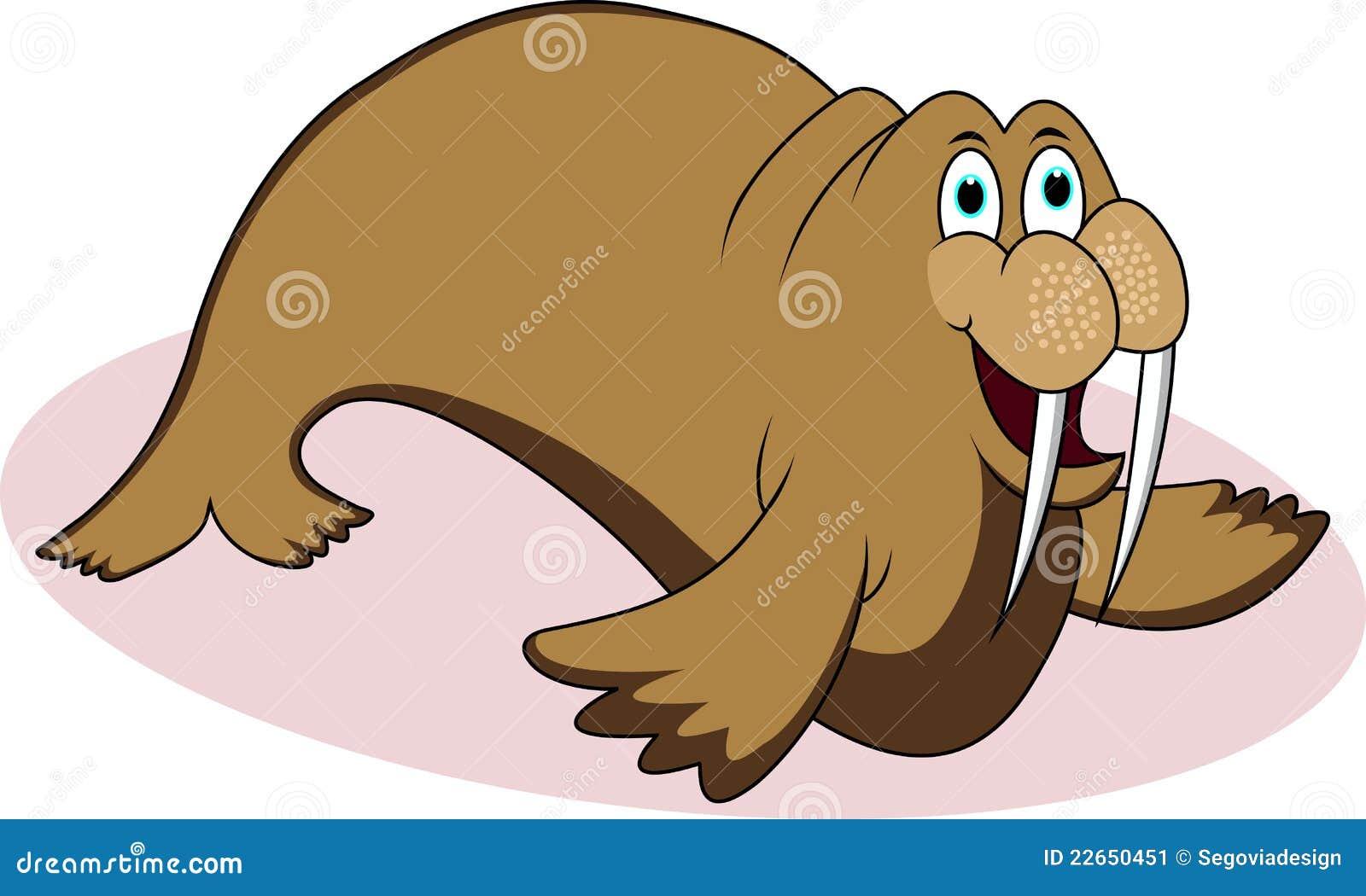 Funny Walrus Cartoon Stock Image - Image: 22650451