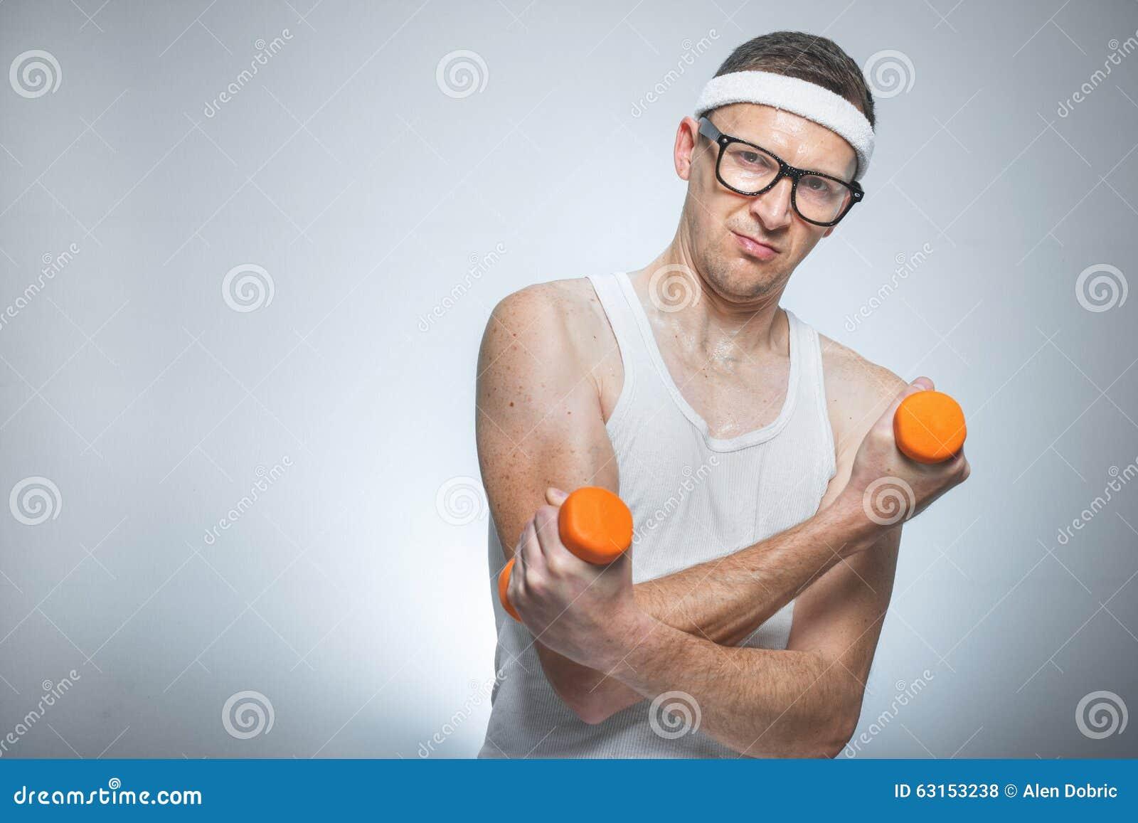 funny weak man lifting biceps stock photo image 63153238 weightlifting clipart logo weightlifting clipart logo