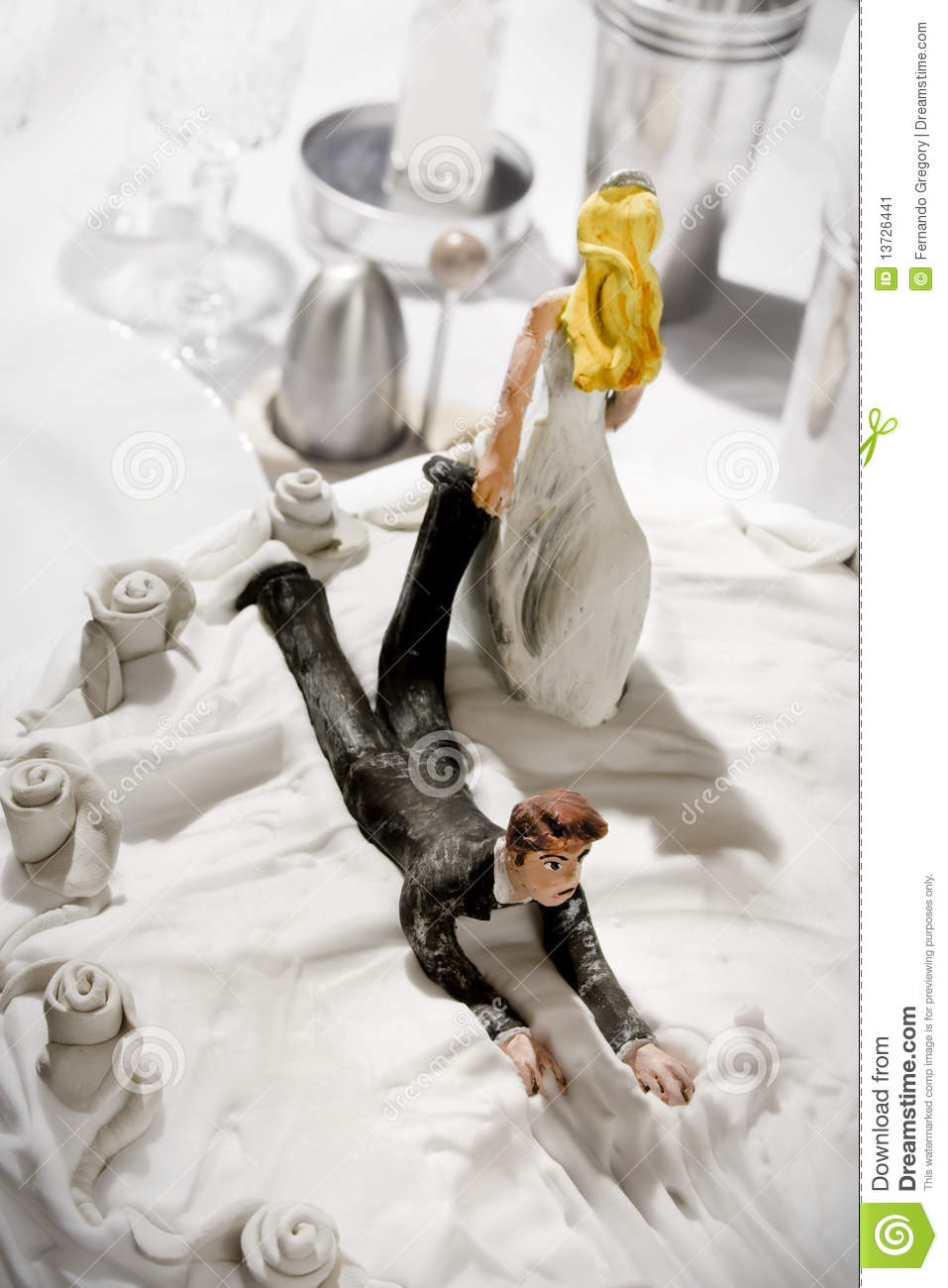Funny Wedding Cake Figurines Stock Image - Image of party, lifestyle ...