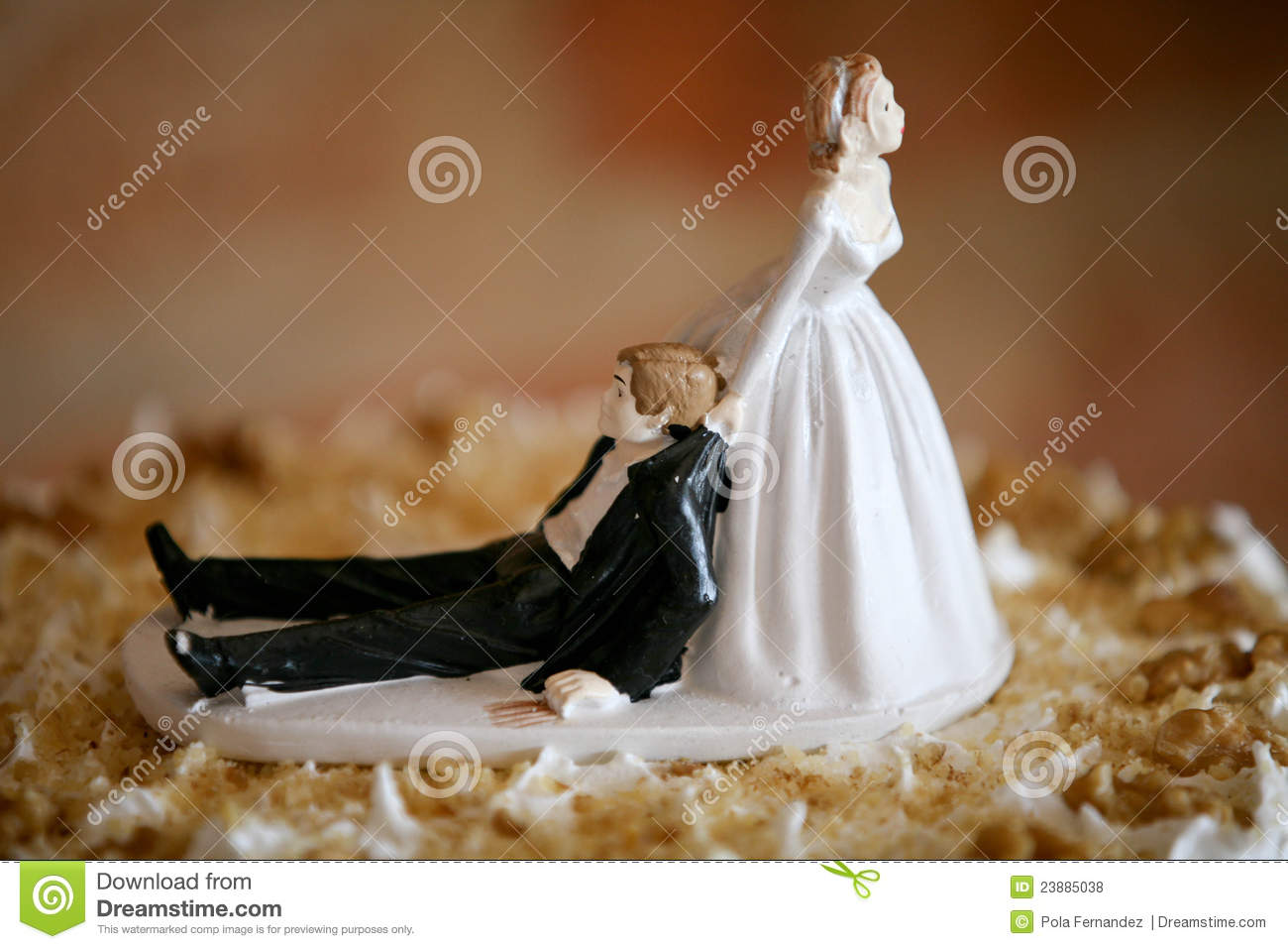 Funny Wedding Cake Topper lets Get Married Royalty Free