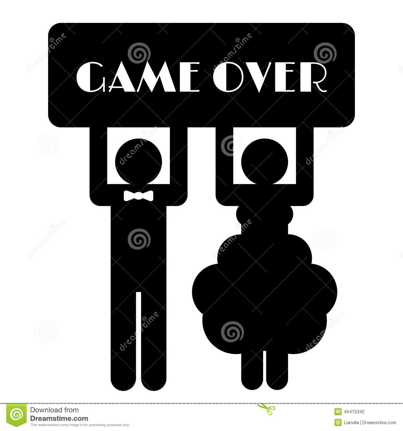 Funny Wedding Symbol - Game Over Stock Vector - Image: 45415342