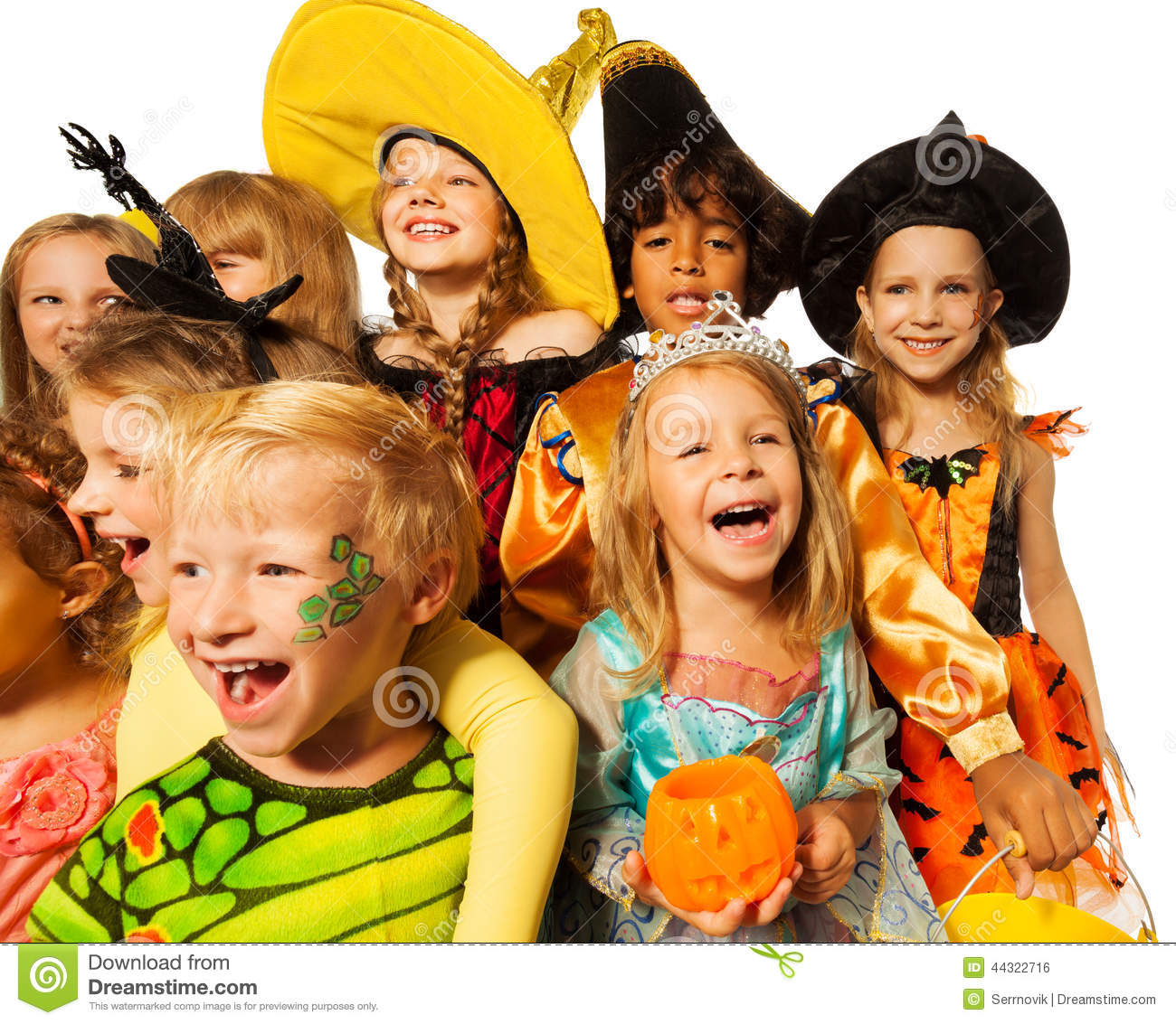 Kids Stock A Wide Selection Of Luxury Premium Cotton: Funny Wide Angle Shoot Of Kids In Costumes Stock Photo