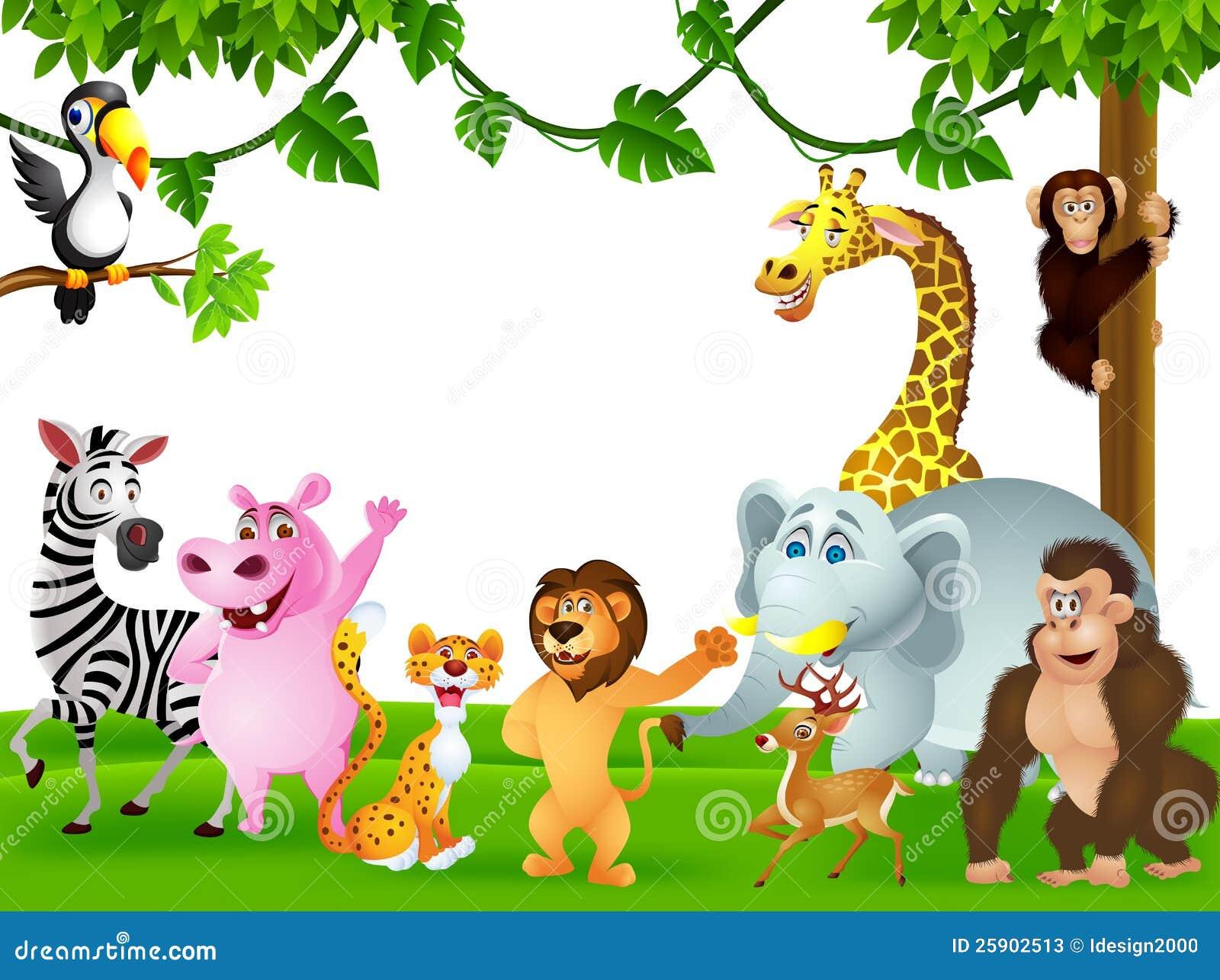 Funny Wild African Animal Cartoon Stock Vector
