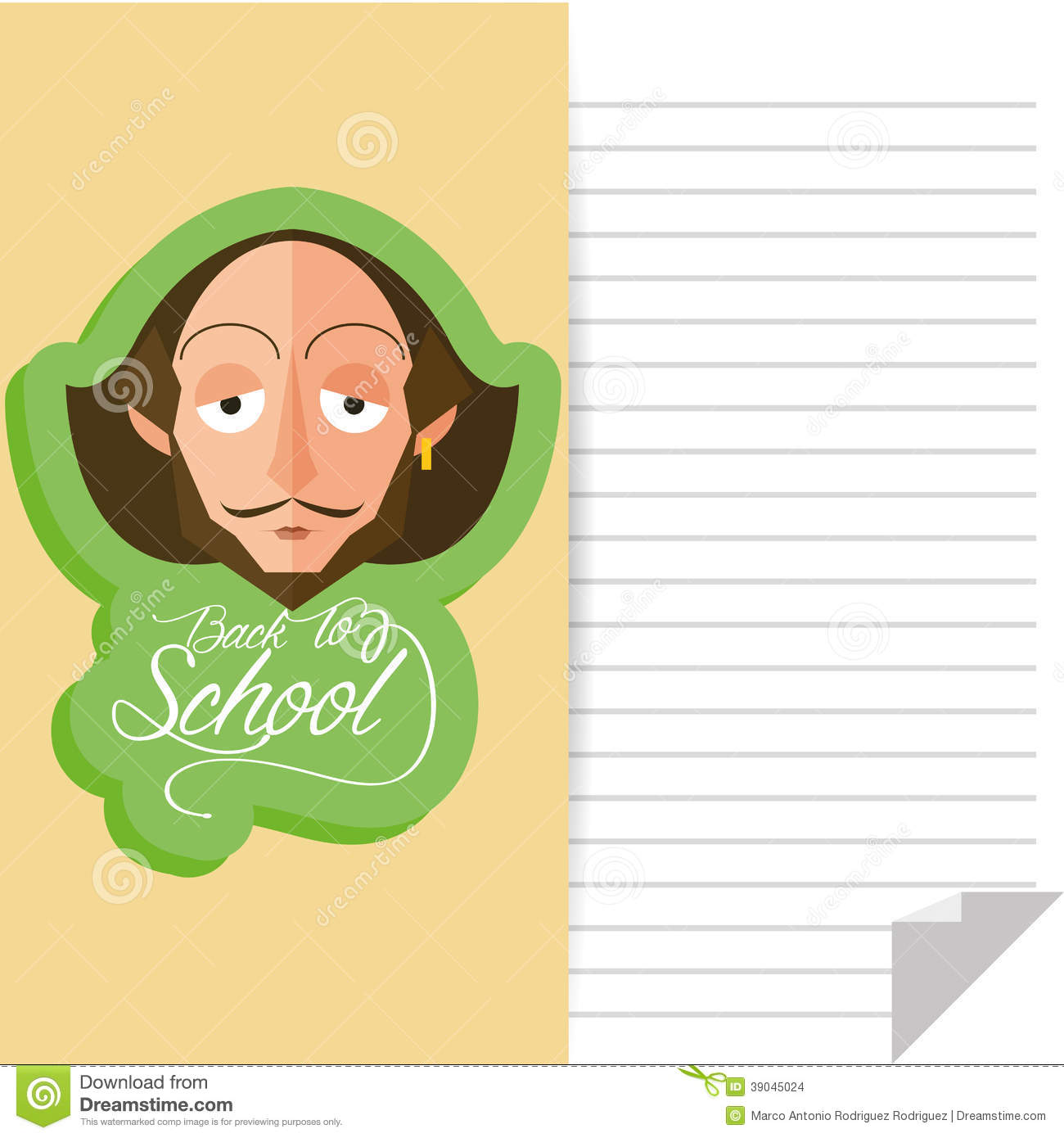 Vector Funny William Shakespeare Cartoon Portrait Isolated And Space ...