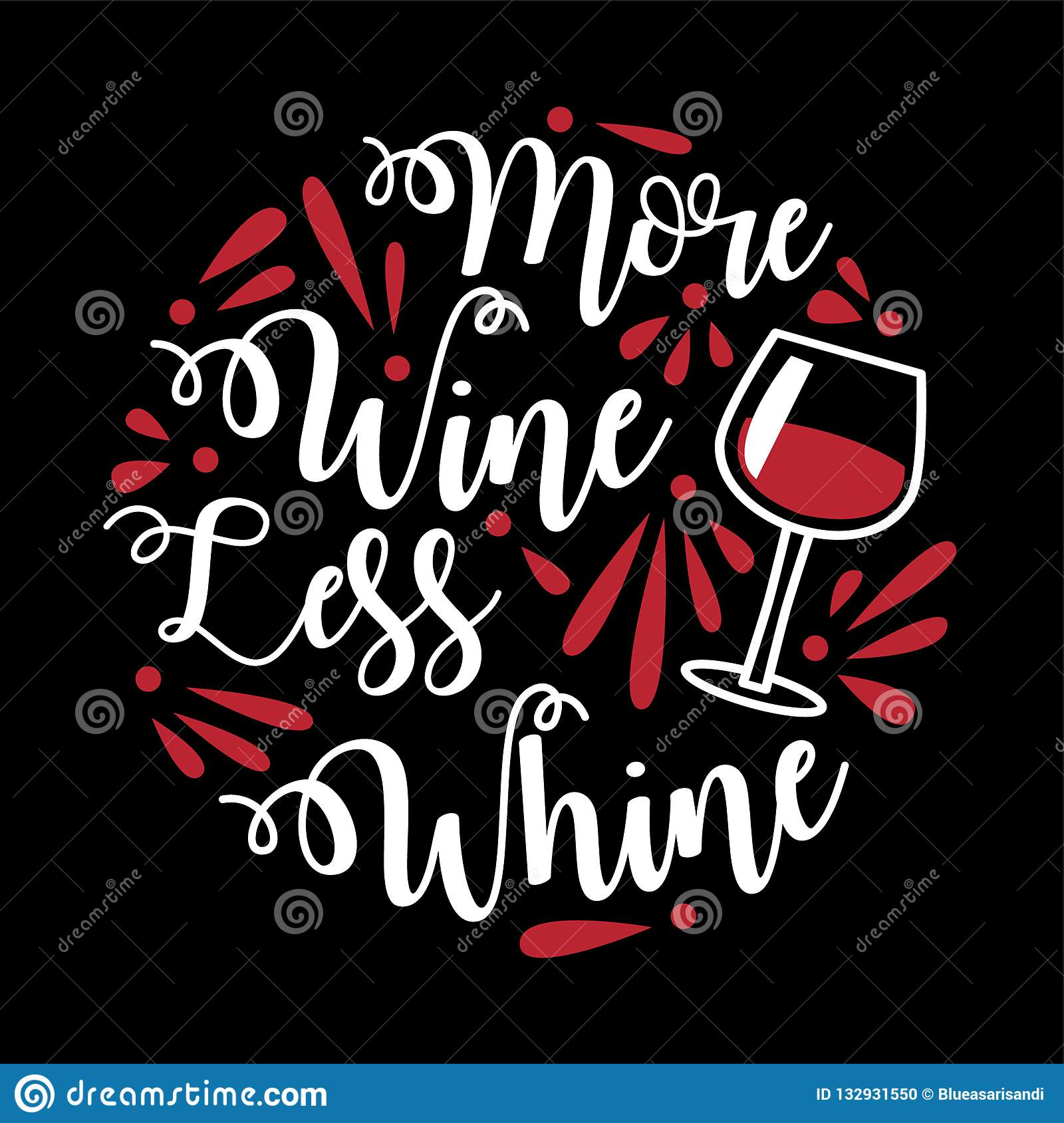 Funny Wine Quote And Saying. Stock Vector - Illustration of ...