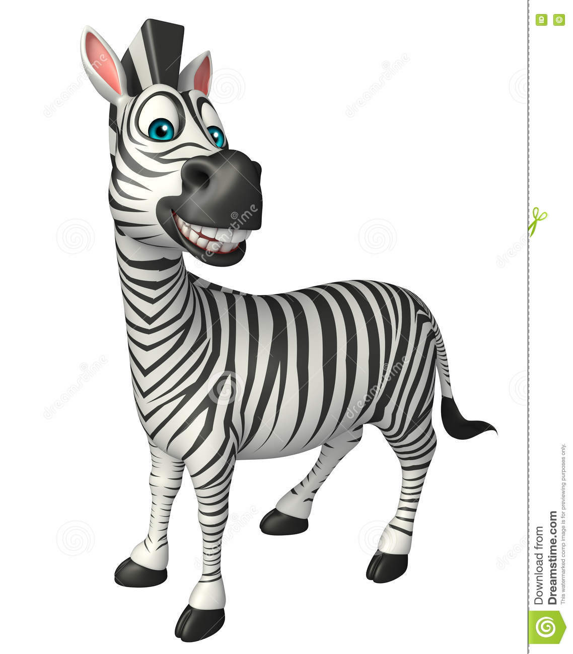 Funny Zebra Cartoon Character Stock Illustration - Image ...