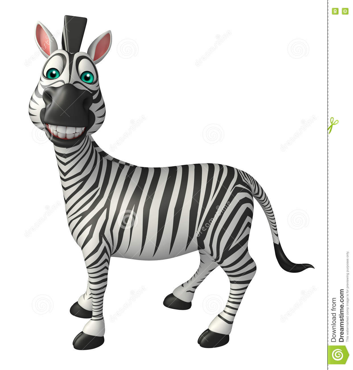 Zebra Cartoon Characters