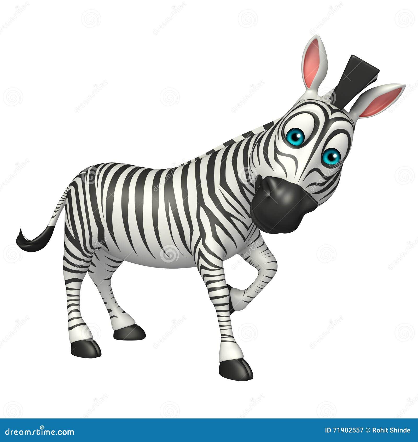 Cartoon Characters Zebra : Funny zebra cartoon character stock illustration image