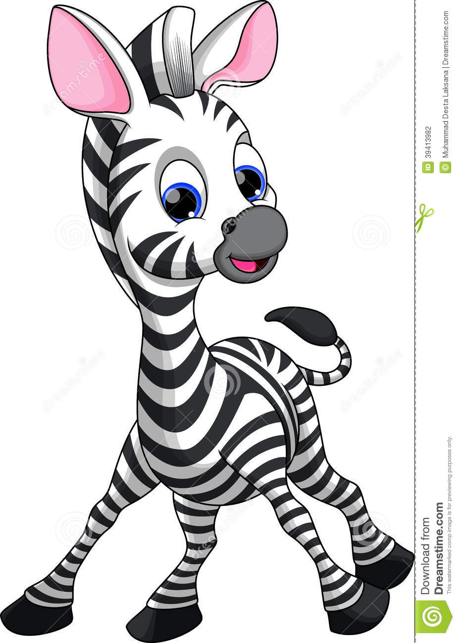 Funny Zebra Cartoon Stock Illustration - Image: 39413982