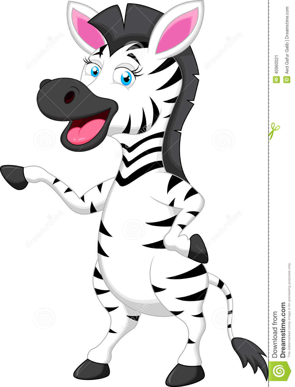 Funny Zebra Cartoon Stock Vector - Image: 40960021
