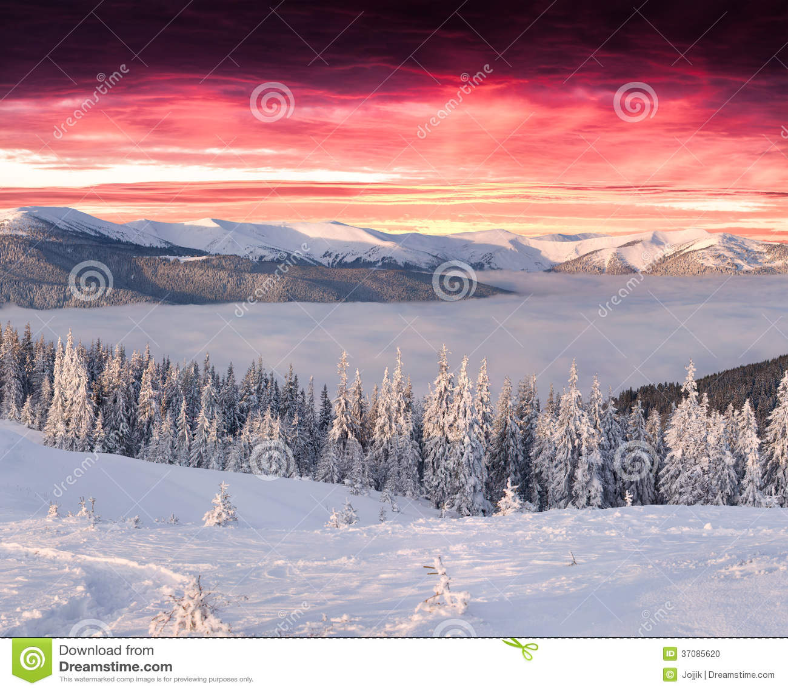 Download Funtastic Zimy Ranek W Górach Zdjęcie Stock - Obraz złożonej z przygoda, sezon: 37085620