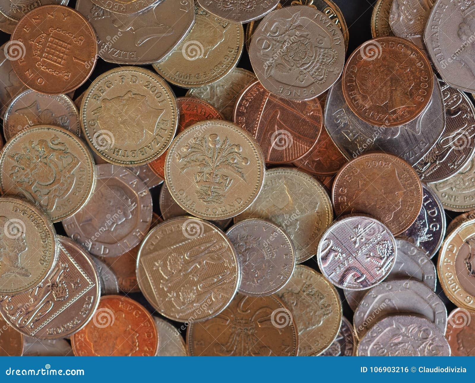 Funtowe monety, Zjednoczone Królestwo w Londyn