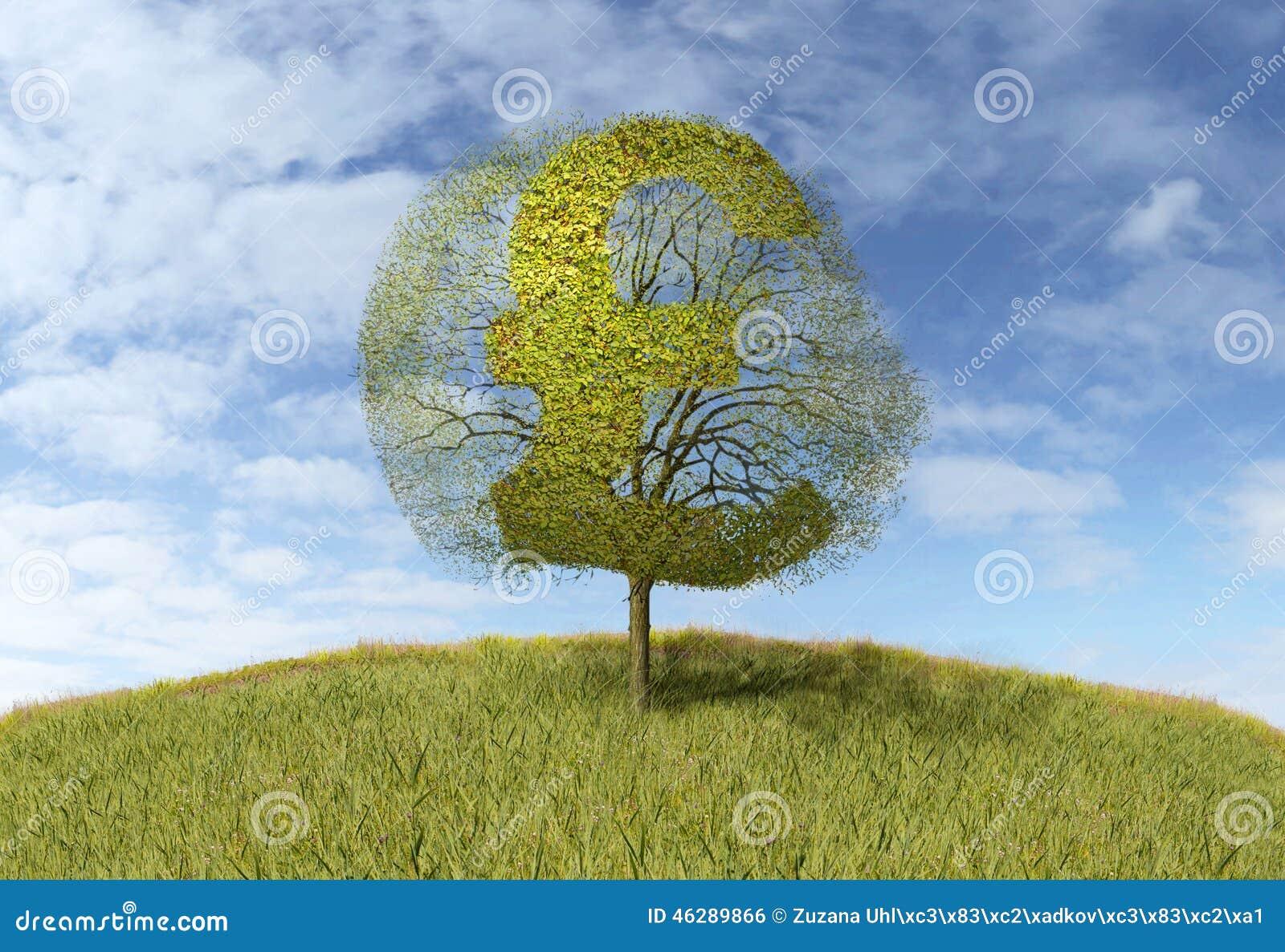 Funtowy znak na drzewie