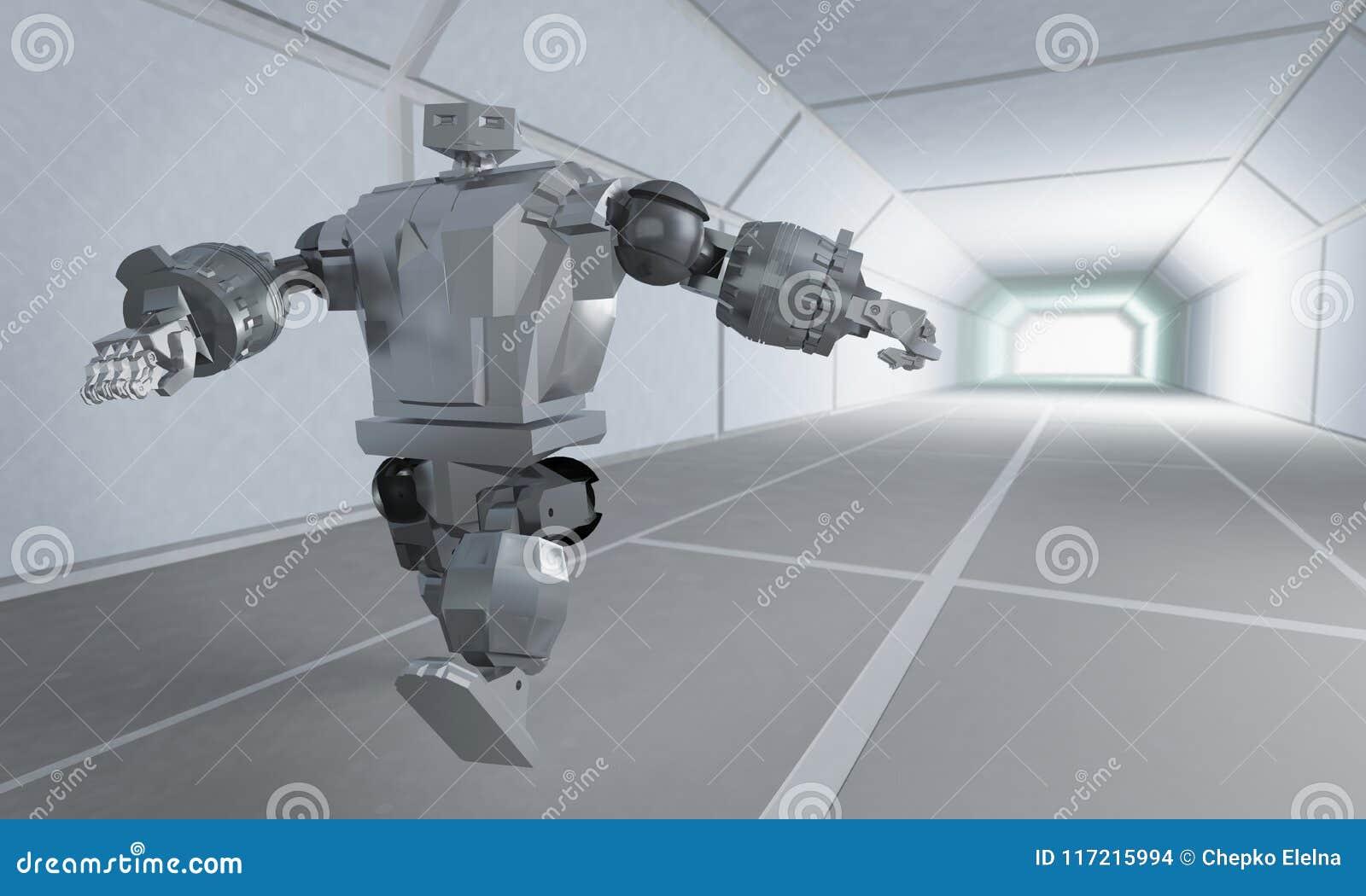 Funzionamenti del robot sul corridoio dello spazio
