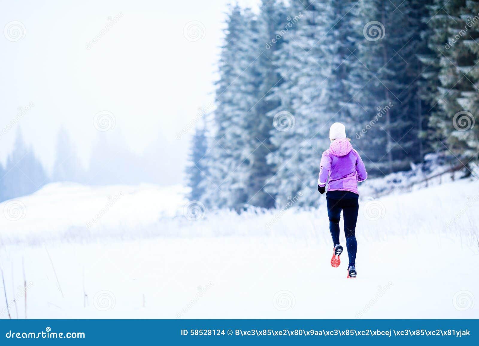 Funzionamento della donna nell inverno, nell ispirazione di forma fisica e nella motivazione