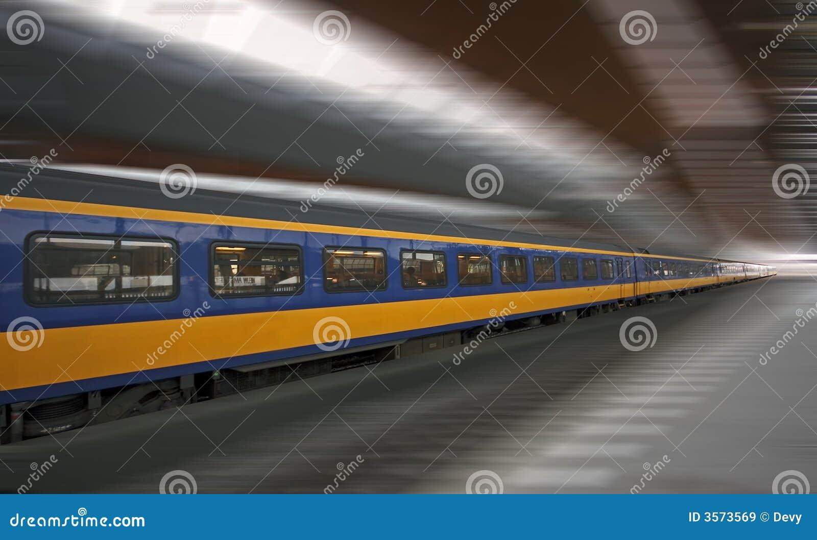Funzionamento di treno veloce in Olanda
