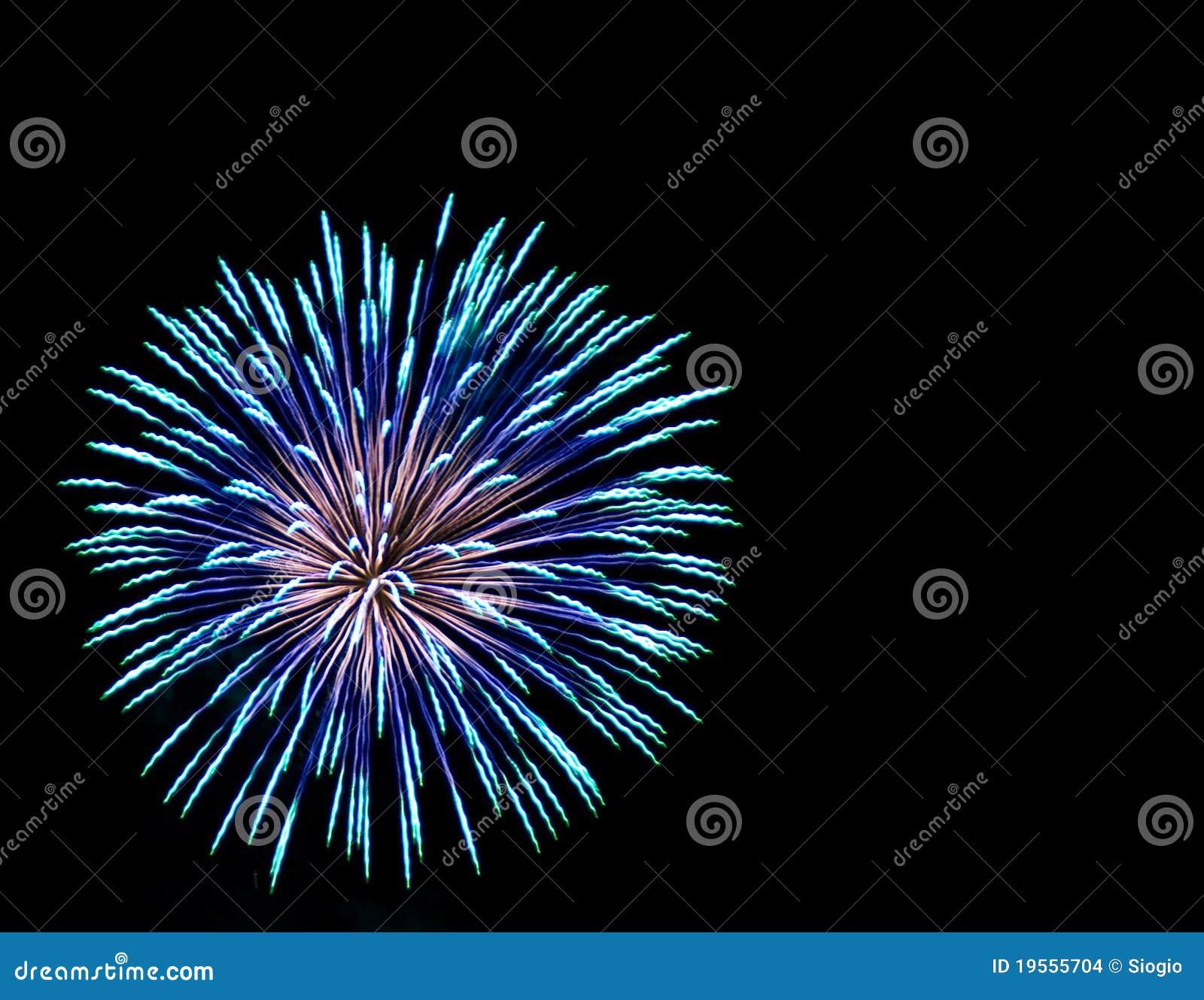 Fuochi d artificio del Aqua e dell azzurro