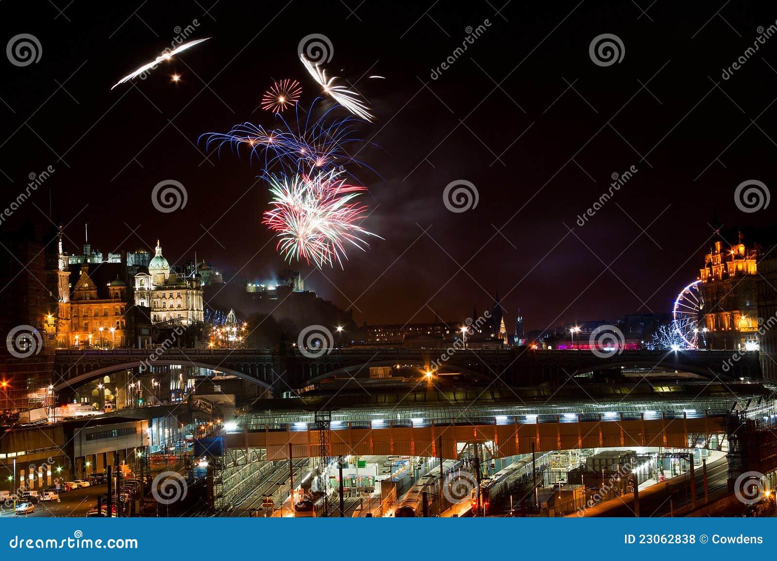 Fuochi d artificio del castello di Edinburgh