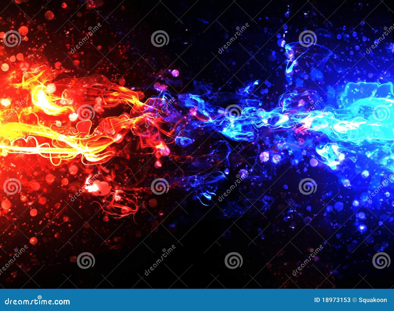 Fuoco Blu E Rosso Illustrazione Di Stock Illustrazione Di Traversa