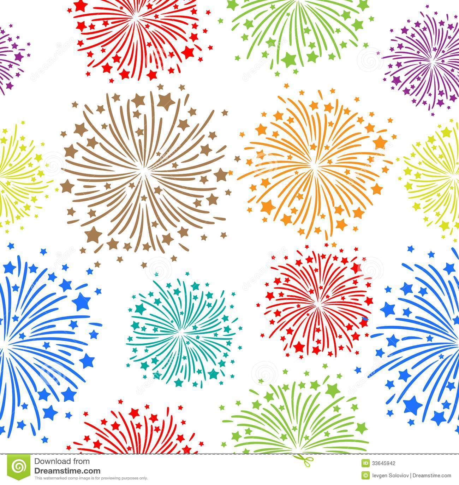 Fuoco d artificio senza cuciture