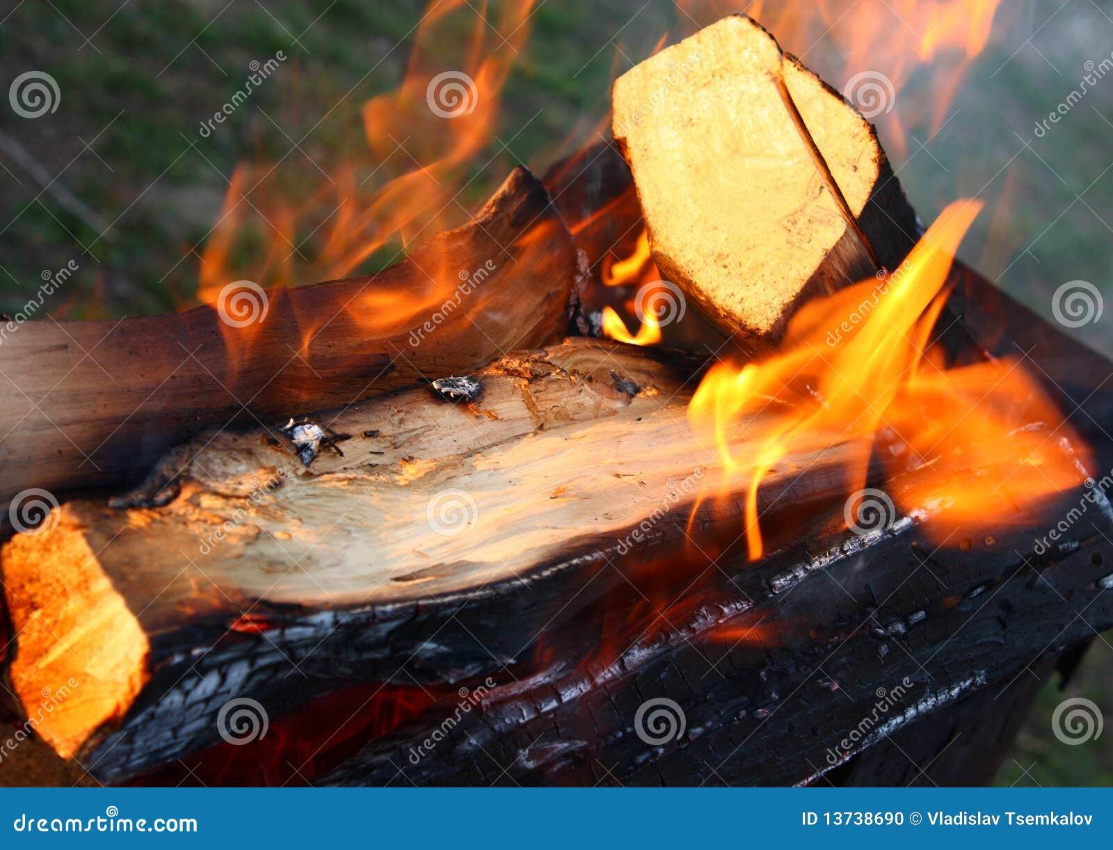 Fuoco di legno