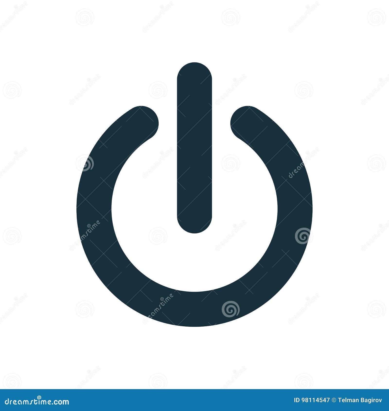 Fuori dall icona del commutatore del bottone di potere