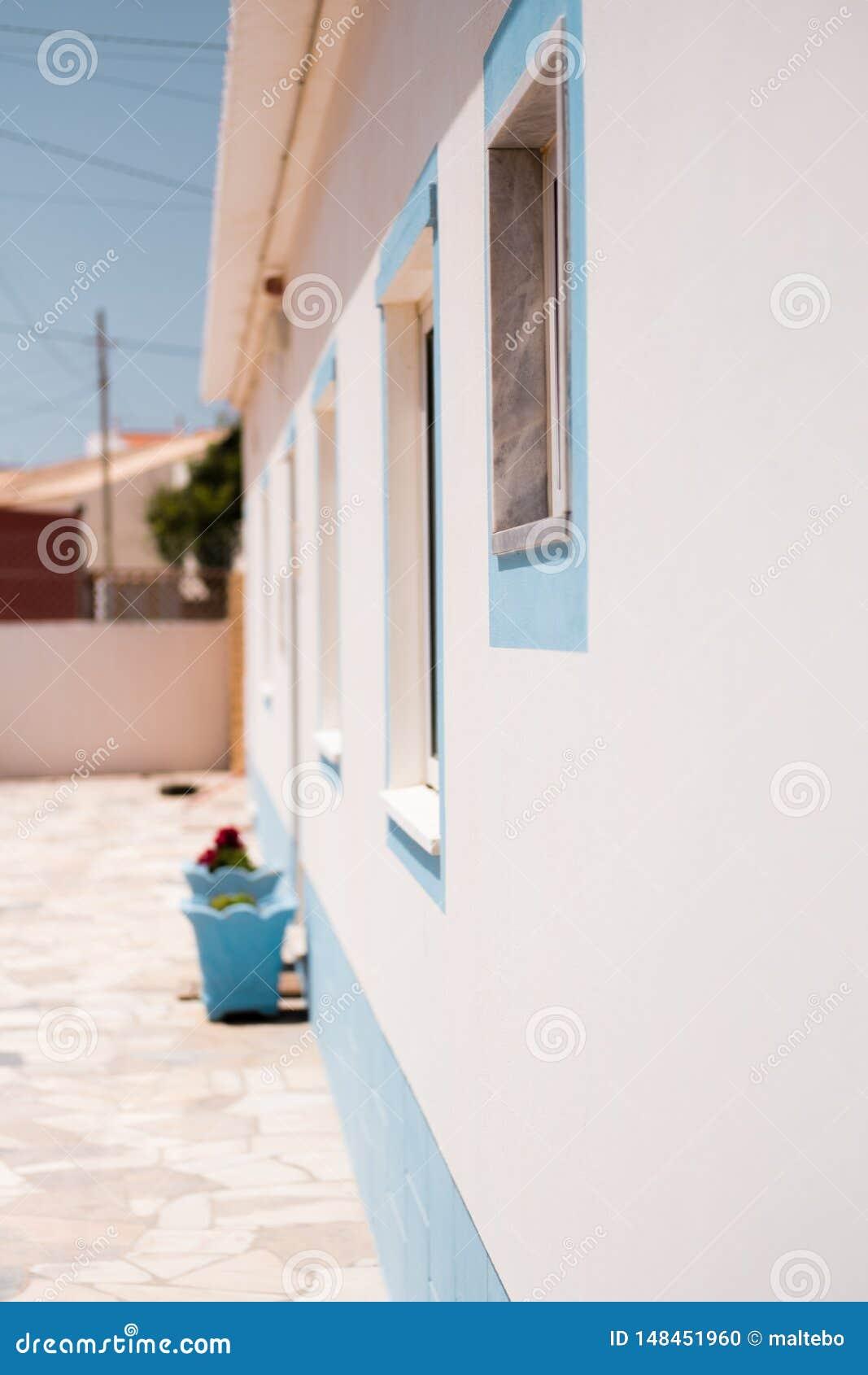 Fuori della vista di una casa mediterranea