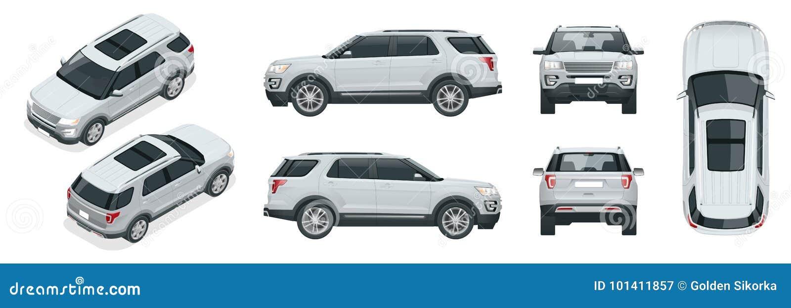 Fuori strada scriva ad automobile il trasporto moderno di VIP Il vettore fuori strada del modello del camion ha isolato l automob