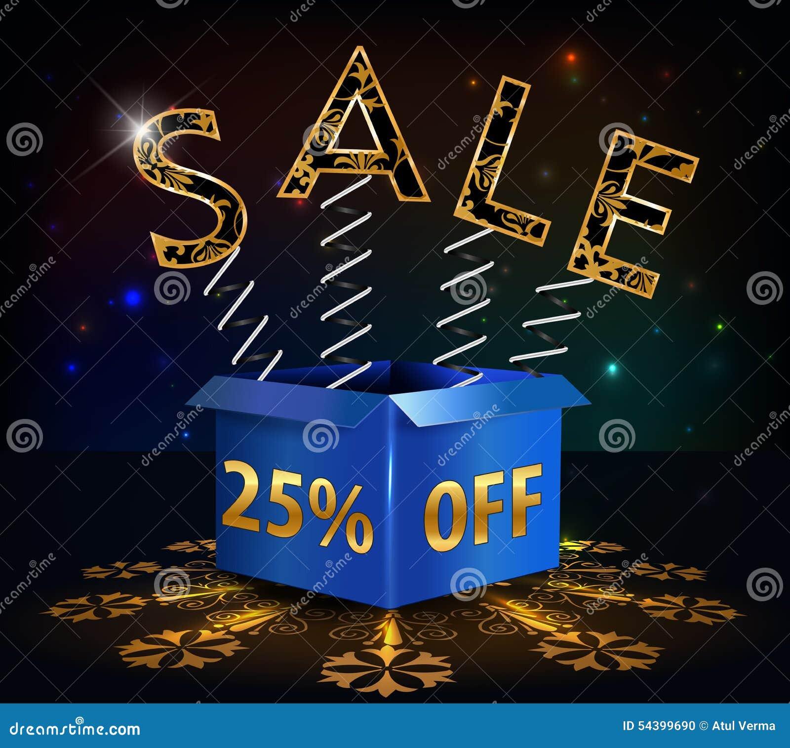25  fuori, vendita calda di sconto di 25 vendite con la molla di offerta speciale e scatola