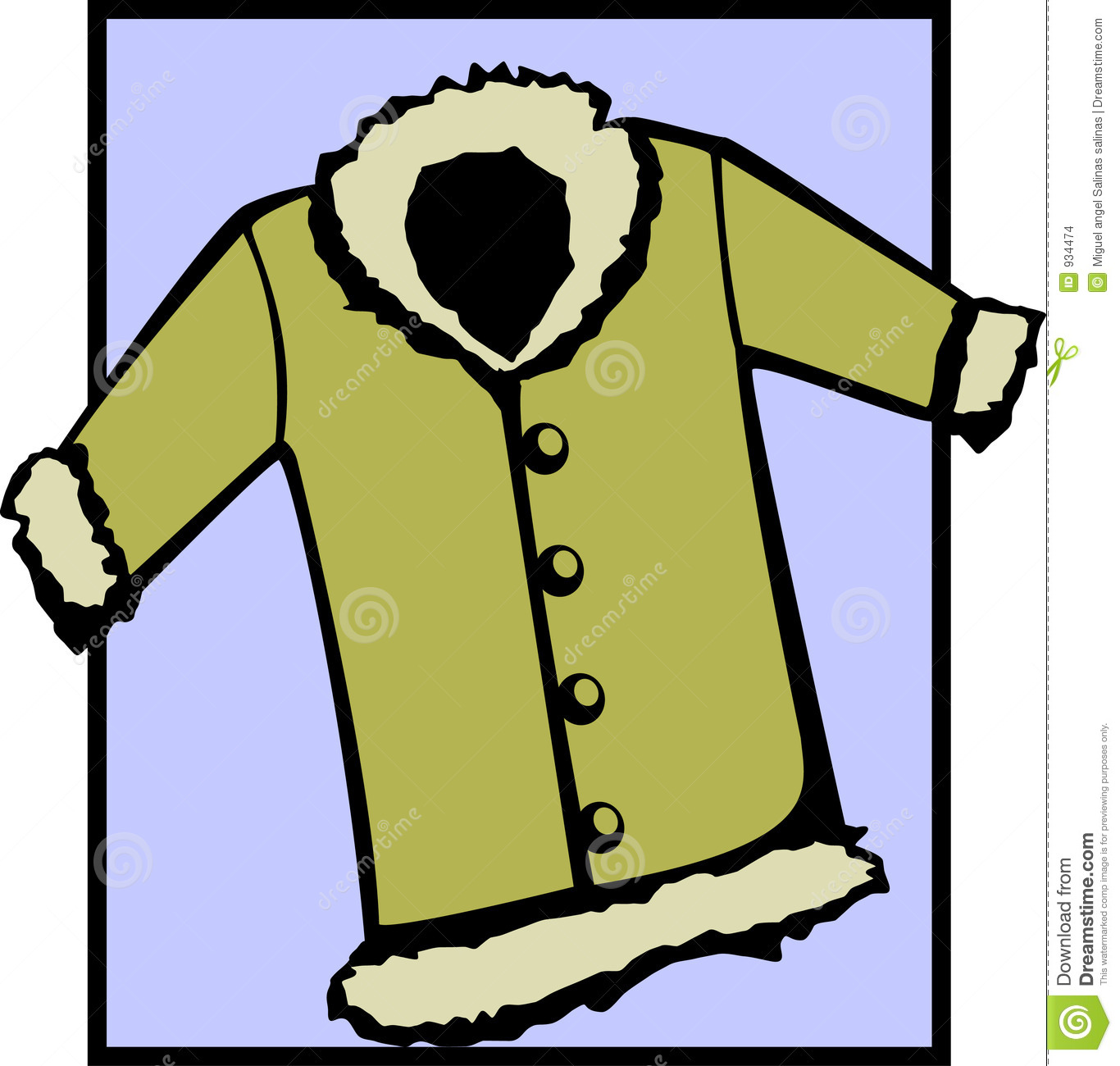 Fur Coat Or Winter Jacket. Vector File Available Stock Images - Image ...