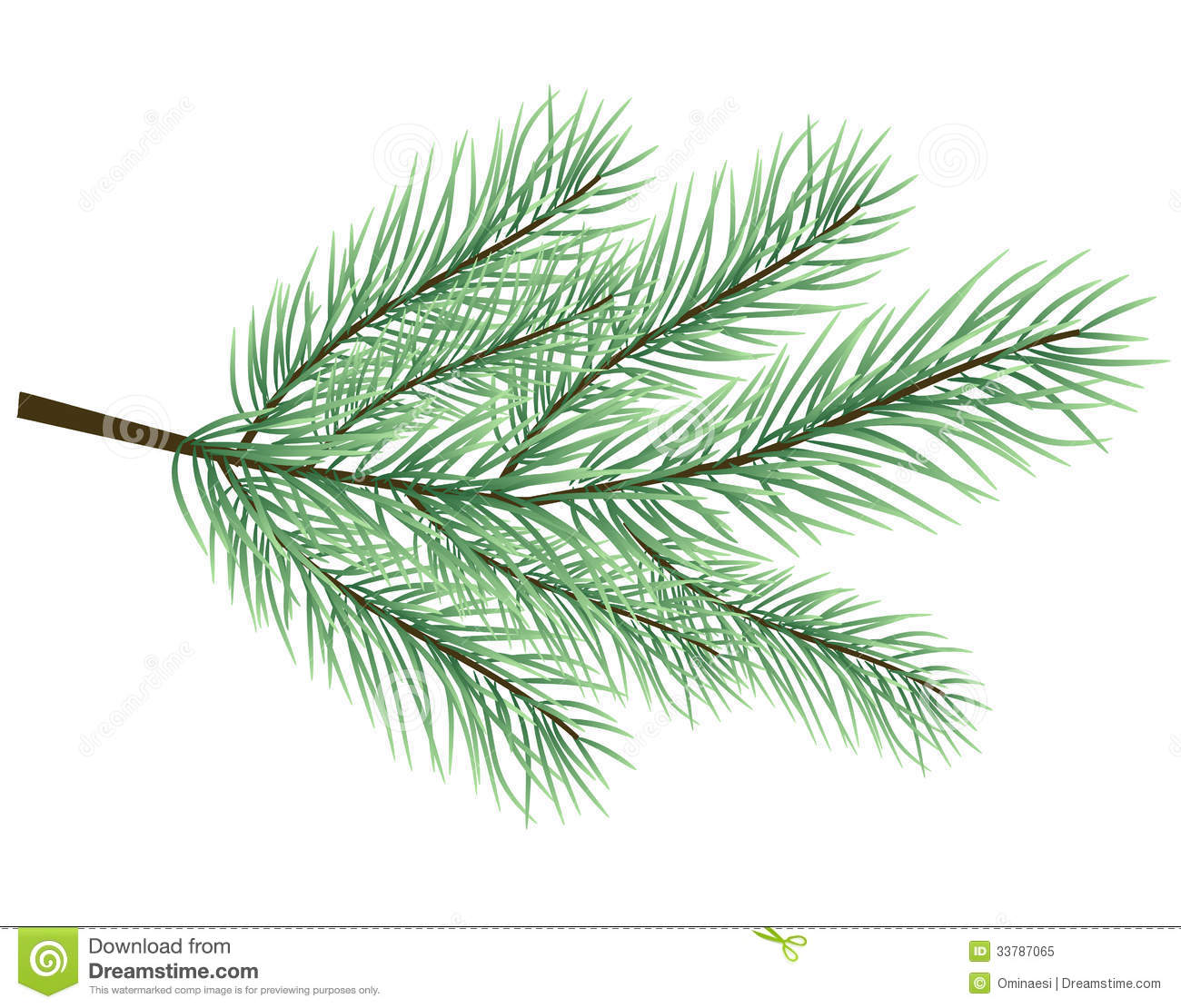 christmas tree branch vector - photo #5